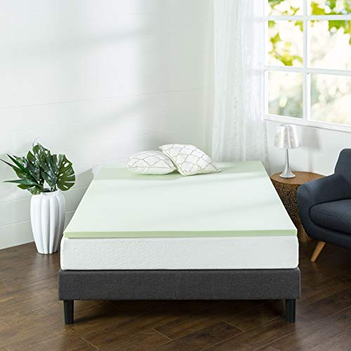 Zinus 1.5 Inch Green Tea Memory Foam Mattress Topper, King