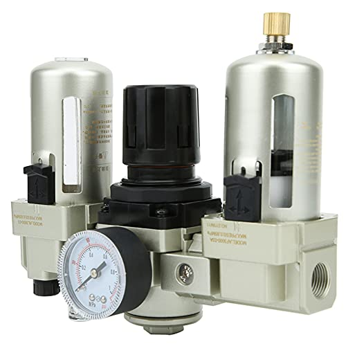 Weikeya Petróleo‑Agua Separador, Filtrar Regulador Lubricador, Regulador Lubricador Combo 0.05-0.85 Aluminio Aleación