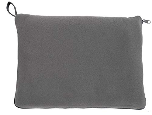 travelstar: patentiertes 2in1 Reise-Kissen (umwandelbar zur Decke), viele Farben (TS-B-1002) | 2 in 1 | Reisedecke | Decke | Kuscheldecke | Nackenstütze | Reisekissen | Kissen | für Frauen & Männer