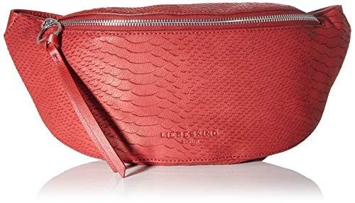 Liebeskind Berlin Damen Story Python-Belt Bag Umhängetasche, Rot (Dahlia Red), 8x14x34 cm