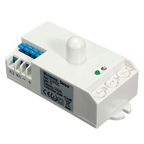 SHANG-JUN Fácil de Montar Sensor de Radar de microondas Sensor Interruptor de Cuerpo Movimiento Cuerpo HF Detectorh SK-807K-DC DC 12V-24V 5.8GHz Conveniente