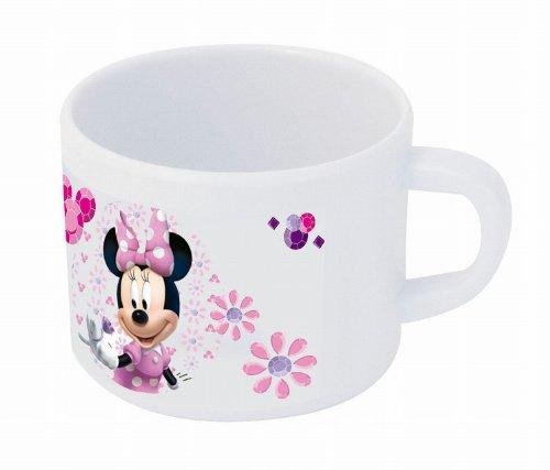 POS 68812088 - Kindertasse mit Disney Minnie Mouse Motiv, Trinkbecher mit Henkel, für Jungen und Mädchen, Fassungsvermögen ca. 200 ml, aus stabilem Melamin (BPA-frei)