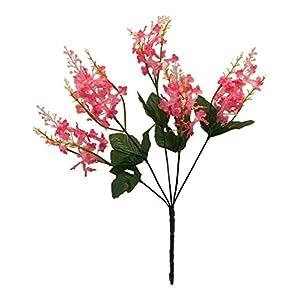 Silk Flower Arrangements Fuchsia Pink Lilac Bush Artificial Silk Flowers Wedding Bouquet Centerpieces Decor Fake Faux, for Wedding Supplies