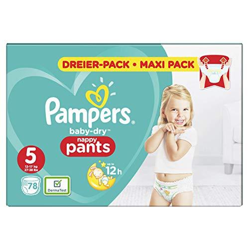 Pampers Baby-Dry Pants/Windeln, Größe 5, mit Luftkanälen, 78 Stück