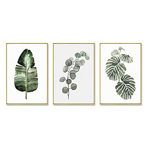 ZFFLYH Wandbilder, Set Von 3 Botanische Drucken, Nordic Wohnzimmer-Dekoration Gemälde Moderne Minimalist Gemälde Sofa Hintergrund Wandmalerei (30 * 40CM),D,Athens White