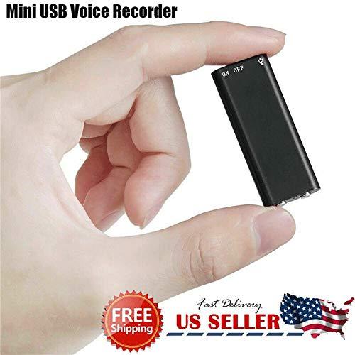 Yunbai Grabadora de sonido de audio de alta definición de grabación del dictáfono grabadora de voz digital de grabación Pen espía Mini grabadora de audio activada por voz dispositivo de escucha 96 Hor