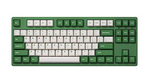 YUNZII AKKO Matcha Red Bean-3087DS Mechanische Tastatur mit 87 Tasten und 85 {0b4c1405ec6032080e48986929f0060ba738de3cfbec63a9121e0fab27258836} PBT-Tastenkappe, N-Key Rollover, Typ-C-Port (Gateron Pink Switch, 87 Tasten)