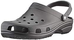 crocs Unisex-Erwachsene Classic Clogs, Schwarz (Black 001), 46/47 EU