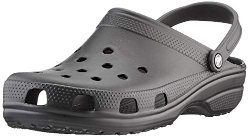 Crocs Classic Clog | Water Comfortable Slip on Shoes, Black, 9 Women/7 Men