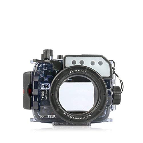 Seafrogs Waterproof Case for Sony RX100 I II III IV V, Underwater Camera Housing with Quick Release Mount can...