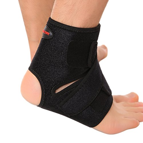 Liomor Ankle Support Breathable Ankle Brace for Running Basketball Ankle Sprain Men Women - S/M, Black.