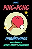 Carnet PING-PONG : carnet d'entraînement tennis de table-tennis de...