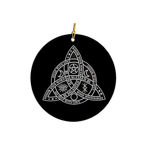Triquetras Celtic Knot Wicca Christmas Ornament