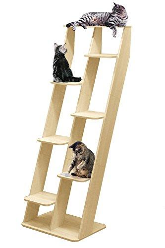 ottostyle.jp キャットタワー キャットシェルフ インテリア調 猫タワー おしゃれ 運動 棚 立てかけ 据え置...