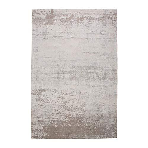 Riess Ambiente Design Teppich MODERN Art 160x240cm beige grau verwaschen Vintage aus Baumwolle Läufer Wohnzimmerteppich