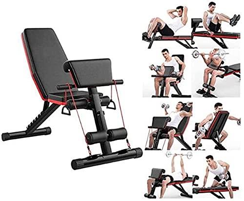 AINH Banco de pesas multifuncional para levantamiento de pesas, banco de ejercicios plegable con posiciones ajustables