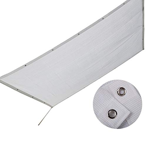 LXLA White Outdoor Shade Cover with Grommets, Exterior Sun Shade Sail Cloth with 90% UV Protection, Shade Netting for Patio Pergola Balcony Window (Size : 3m x 3m)