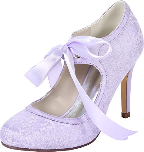 Zapatos de tacón redondo para mujer con punta redonda en D-Orsay vestido...