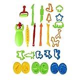Aiyrchin 26PCS Masa de Arcilla de Barro Herramientas Herramientas de Conjuntos de Colores de plastilina moldes DIY niños Playset Formas de Animales Aptos para niños