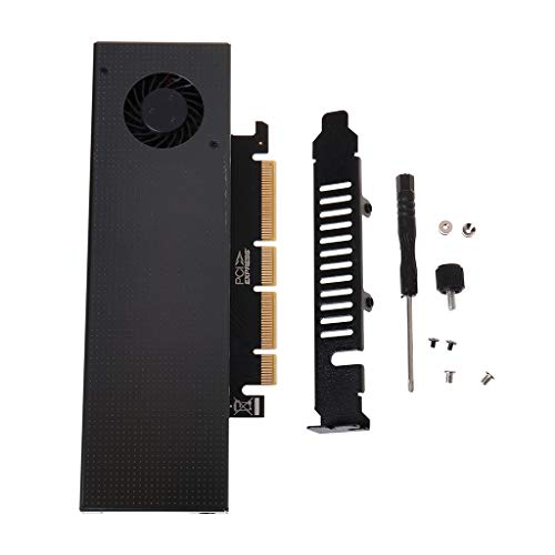 JOYKK M.2 PCIE3.0 SSD-adapterkaart met ventilatoruitbreidingskaart - zwart