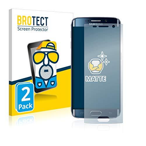 brotect Pellicola Protettiva Opaca Compatibile con Samsung Galaxy S6 Edge Pellicola Protettiva Anti-Riflesso (2 Pezzi)