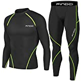 1Bests - Juego de 2 piezas de entrenamiento, camuflaje, para correr, con mallas, para hombre, secado rápido, Green line, extra-large