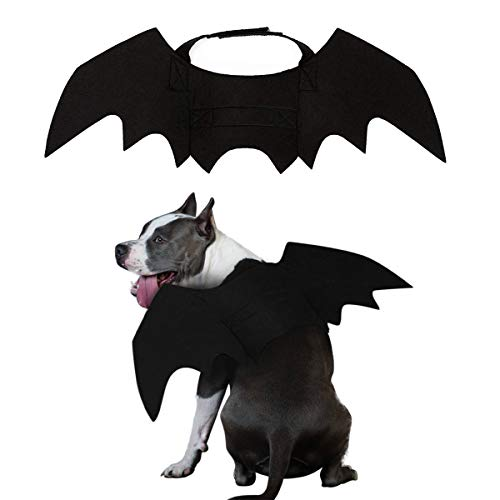 PEDOMUS Disfraz de Perro Disfraz de Halloween Perro Gato Disfraz de alas de murciélago Vampiro pequeño y Alto
