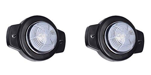 2 x 1 SMD LED Weiß Begrenzungsleuchte Seitenleuchte 12V 24V mit E-Prüfzeichen Positionsleuchte Auto LKW PKW KFZ Lampe Leuchte Licht Front Universal