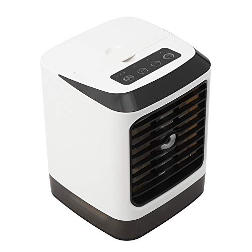 Fockety Ventilador de Aire Acondicionado, Mini humidificador Enfriador de Aire con Carga USB, Ventilador Enfriador de Aire portátil, Dormitorio para Oficina, Sala de Estar, hogar
