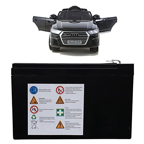 SIMRON Akku Batterie für Audi Q7 Ride-On 12V Elektro Kinderauto Kinderfahrzeug Kinder Elektroauto