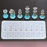 Bangle009 Schachfiguren aus Silikon, für Schmuckherstellung, Epoxidharz, zum Basteln, einfarbig, Einheitsgröße