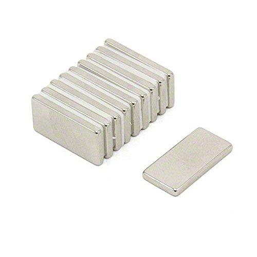 Magnetastico®   10 Stück Neodym Magnete N52 Rechteck 20x10x2 mm   Kühlschrankmagnet Pinnwandmagnet Dauermagnet Whiteboardmagnet Haftmagnet Rechteckmagnet Quadermagnet