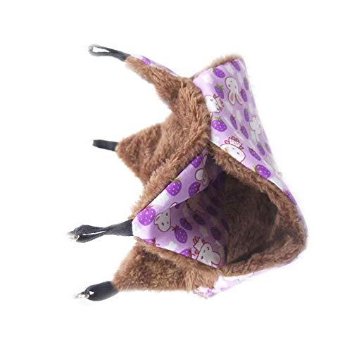 Hamaca para roedores para ratas, hámsteres, chinchillas y ardillas, de algodón de felpa