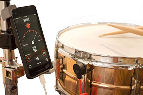 Backbeater Deluxe, Advanced Digital Metronome for Drummers. Smartphone system for perfect drum tempo. Connect sensor to phone, start iOS or Android app, & know your tempo. Includes Phone mount