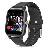 xingling Smartwatch, Fitnessuhr, Körpertemperatur messen, Übung anzeigen, Herzfrequenz, Blutdruck, Blutsauerstoffkalorie Bluetooth 5.0 Sportuhr