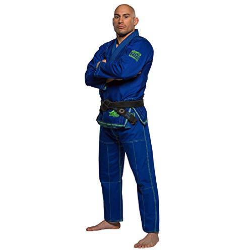 FUJI Suparaito BJJ GI Martial Arts Uniform, Blue, A2