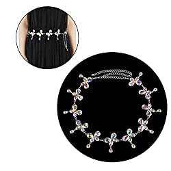 Style-9 Metal With Rhinestone Hip Chain