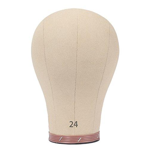 Pruikenkop decoratieve kop zeildoek hoofd kurk pruik naaien mannequin hoofd pruikenkop canvas blok head pruik make-ing 21