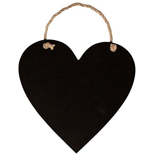 Herzförmige Kreidetafel (ohne Kreide) zum Aufhängen mit Band