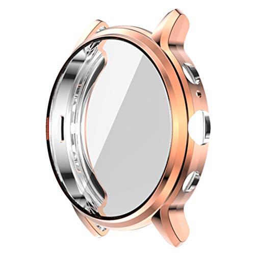 POPETPOP Smart Watch Tpu Bumper Case Capa de Armação Protetora Shell à Prova de Choque Anti Scratch Smartwatch Protetor de Tela Compatível para Gen Fóssil 5 The Carlyle Hr (Ouro Rosa)