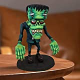 Frankenstein Halloween Statue Garden Gnomes Angry Big Mouth Eccentric Monster Decoration,Creative Home Funny Resin Sculpture Ornament for Halloween Christmas Children's Day