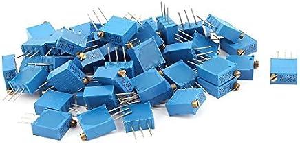 eDealMax 50Pcs 3296W-101 100 ohmios de resistencia del potenciómetro de ajuste el potenciómetro de