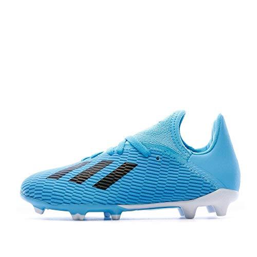adidas Baby Jungen X 19.3 Fg J Fußballschuhe, Blau (Bright Cyan/Core Black/Shock Pink Bright Cyan/Core Black/Shock Pink), 38 EU