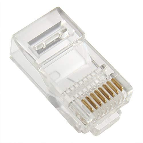 DDyna 3 PCS Cable sólido o Trenzado Cable sólido o Trenzado Conector de Red LAN de Enchufe Modular de Cristal RJ45 CAT5