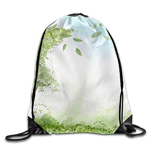 Ovilsm Cord Bag Sackpack Birds On The Tree Unisex Home Gym Sack Bag Travel Drawstring Backpack Bag