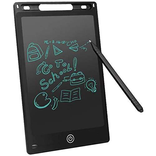 LCD électronique, ardoise planche à dessin planche à dessin électronique 8,5 pouces et planche magique pour les enfants et les adultes, l'écriture et carnet de croquis pour l'école et bureau,Noir
