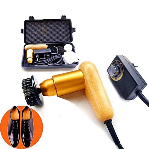 75W High Power Adjustable Speed Electric Shoe Polisher Machine with 3...