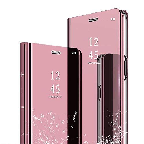 kompatibel für XIAOMI MI8 LITE/MI 8 Youth (Mi 8X) (6.26) Cover Reflektierende Spiegelabdeckung Book Mirror Stand-Hülle Ganzkörper-Ganzkörperabdeckung (pink)