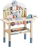 Labebe - Banco de trabajo infantil de madera, para niños, juego de imitación, con herramientas y accesorios para niños de 2 años