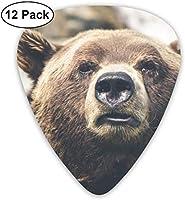 野生のクマギターピック(12パック)アコースティックギター用のギターピックには、ウクレレやその他の楽器に使用される薄いものが含まれています